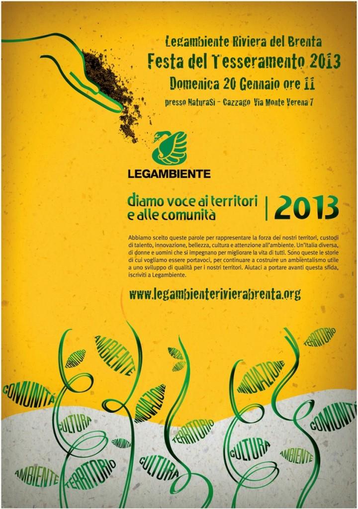 Tesseramento 2013-5 manifesto
